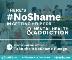 There's #NoShame in getting help for mental health & addiction.