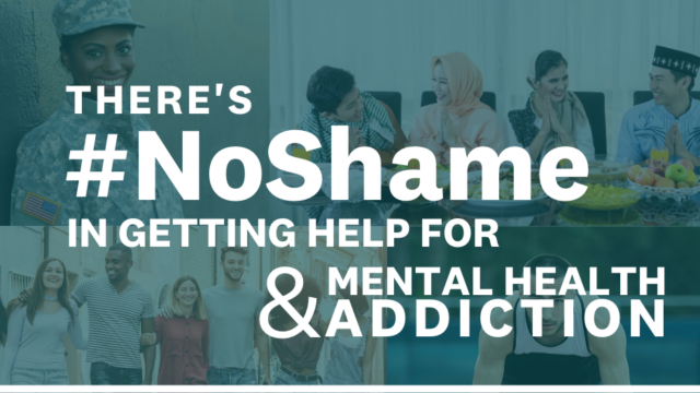 There's #NoShame getting help for mental health & addiction
